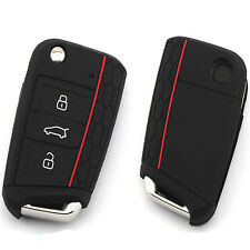 Silicone Auto Key Case Remote Key Bag Holder Cover For Volkswagen VW Golf 7 mk7