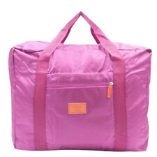Portable Unisex Travel Hand Carry Bag with Large Capacity Weekender Bag (Pink)
