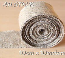 10CM X 10M Hessian Jute Burlap Ribbon Roll Vintage Wedding Decoration Chair Sash