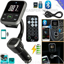 Wireless Bluetooth Auto Lettore MP3 LCD TRASMETTITORE FM SD USB Charger Kit + Remote