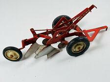 Vintage Eska Tru-Scale 4-bottom toy tractor plow NICE