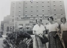 1951 Black & White Photo Claridge Hotel Atlantic City New Jersey Vintage USA