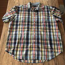 US Polo Assn Mens Plaid Button Up Casual Shirt Size XL #13437
