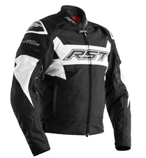 RST 2048 TRACTECH EVO R TEXTILE CE JACKET 42 CHEST MEDIUM BLACK WHITE NEW