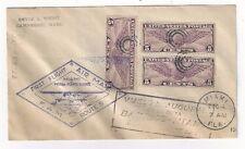 1931 Miami Florida FAM 5 to Puert Barrios Guatemala, Multiple Cachets, Three C12