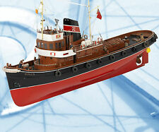 "Scale 1/3""=1' L 36"" B 10"" Electric Radio Control SUN XXI Tug Model Boat Plans"