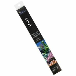 "LM Aquatic Creations Coral Cling Aquarium Background 36"" Long x 18"" Wide"