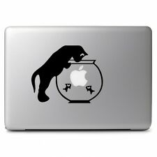 Cat & Gold Fish Bowl for Macbook Air Pro Laptop Car Window Vinyl Decal Sticker
