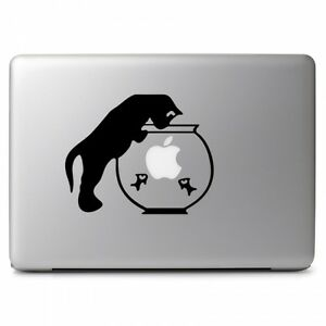 Cat & Gold Fish Bowl for Macbook Laptop Car Window SUV Wall Vinyl Decal Sticker