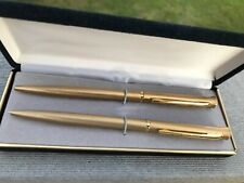 Vtg New Pierre Cardin Pen and Pencil Set, Gold color, Gift box/warranty