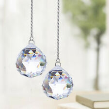 2pcs Crystals Ball Prisms Suncatcher Hanging Rainbow Maker Metal Chain Ornament