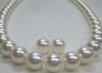 """HUGE AAA 18"""" 11-12MM Perfect SOUTH SEA GENUINE WHITE PEARL NECKLACE EARRINGS 14K"""