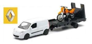 NEW19815A - Utilitaire RENAULT Kangoo avec moto orange -  -