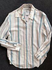 BNWT Mango Metallic Striped Shirt Top Size XS UK 6 8 Summer Holiday Cruise