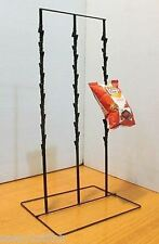 """Counter Chip and Snack Display Rack - 3 Strip 4 1/2"""" Apart 39 Clip (Black)"""