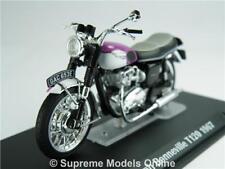 TRIUMPH BONNEVILLE T120 MOTORBIKE MODEL 1:24 SCALE PURPLE/WHITE IXO 1967 K8