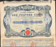 DECO => Société Générale des FEUTRES & CUIRS (V)