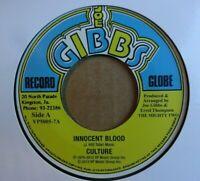 "CULTURE - Innocent Blood - 7"" Vinyl - Joe Gibbs Record Globe - 🇧🇴 ROOTS REGGAE"