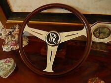 Rolls Royce Wood Steering Wheel Corniche Special  HOOPER JANKEL London Nardi NOS