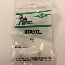 2 Nte417 Socket For 3 Lead To18to92 Type Package Lot Of 2