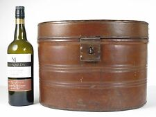 An oval Victorian toleware travelling / hat box