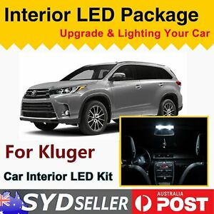 Replace Interior LED Kit Bulbs Upgrade For Kluger 2008-2012 Xenon White Light