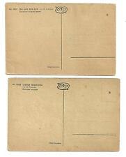 2 Unused Postcard Pre 1920 German Oilettes von M. Dutzauer