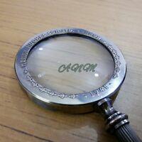 Brass Magnifying Glass Antique Magnifier Vintage Desktop Item