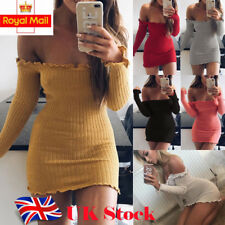 Womens Off Shoulder Baggy Ladies Tops Chunky Knitted Oversized Sweater Jumper UK
