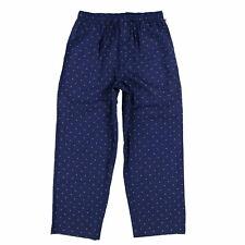 Tommy Hilfiger Mens Pajamas Bottoms Sleepwear Woven Pjs Pockets Small Navy New