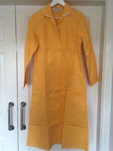 Alexandra D153 Nurses Carers Healthcare Work Uniform Dress in Yellow Size 12