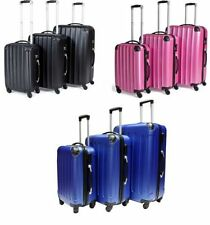 Spinner (4) Unbranded Plastic Suitcases