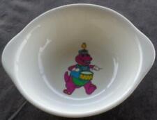 Gently Used Plastic Melamine Child's Bowl - Barney Design - GDC - SUPER CUTE