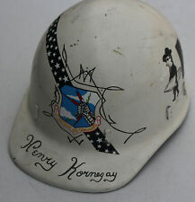 1960s Strategic Air Command Usaf Support Squad Hand Painted Military Helmet Rare