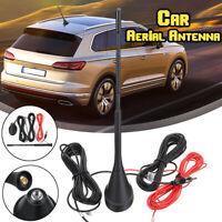 5M DAB + FM/AM Car Radio Antenna Aerial w/ Amplifier Roof Mount Active SMA