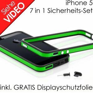 Apple iPhone 5 5s TPU Bumper Silikon Case Schutz Hülle Original grün schwarz