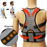 Adjustable Posture Corrector Back Support Shoulder Lumbar Brace Belt Men Women