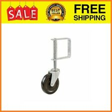 4-Inch Spring Loaded Gate Caster Rubber wheel 125-lb wood or chain link fences