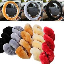 H Warm Black Plush Steering Wheel Cover Winter Furry Fluffy Soft Plush Car Wheel