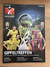 Programm Supercup 2014 Borussia Dortmund - FC Bayern München 13.08.14 FCB BVB