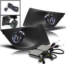 CHROME SET LOWER BUMPER FOG LIGHTS LAMP+HARNESS W/8K HID KIT FOR 2007-2011 VERSA