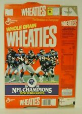 1991 New York Giants Wheaties Cereal Box NFL Super Bowl XXV Champions