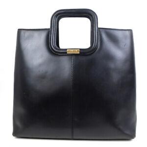 GUCCI Handbag logo leather black