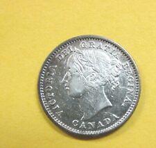 1870 Canada Silver Dime 10 Cents Narrow Zero Lustrous Queen Victoria Q4A5