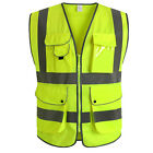 CNSS Unisex High Visibility Reflective Multi Pockets Construction Safety Vest