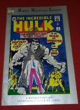 Marvel Milestone Edition Incredible Hulk #1 SIGNED BY STAN LEE & JACK KIRBY L@@K
