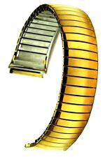 Speidel Flex-Uhrband Zugband  Edelstahl IP gold - 18 mm Uhrband Stretcharmband