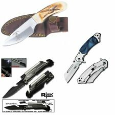 [Q=3] Bone Collector Skinning Knife + Tactical Led Pocket Knife + Cleaver Knife
