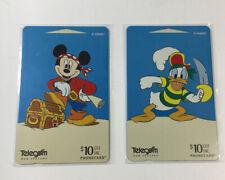 2 Disney Phone Cards New Zealand Telecom - Mickey & Donald Silver Screen 2 (7220