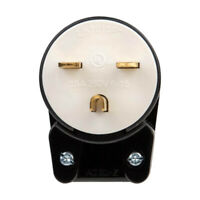 NEMA LK7615P 6-15P Grounding Locking Plug, 15A 250V AC, 2 Pole 3 Wire Bend #